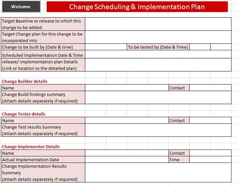 itil change management process template itil change management toolkit rfc