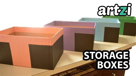 How To Make Paper Box With Cover - how to cover cardboard box with paper storage