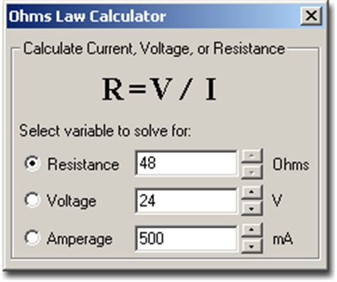calculator ohm pin ohms law on pinterest