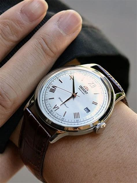 Orient Bambino Automatic Dress Watch with White Dial