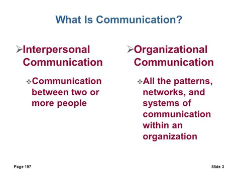 patterns of business communication in an organization what is communication the transfer and understanding of