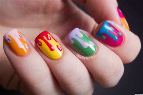 Nail Paint Design by Diy Nail Ideas Paint Drip Nail And More Of Our