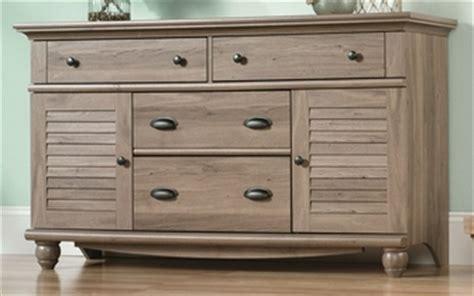 Dresser With Doors Harbor View 58 25 W Dresser With Louver Doors Salt Oak
