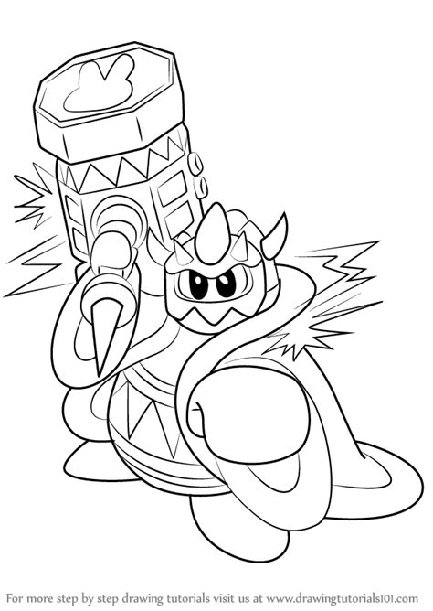 Learn How to Draw Masked Dedede from Kirby (Kirby) Step by
