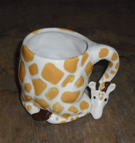 animal shaped mugs vintage giraffe shaped mug cup spotted animal zoo neck by