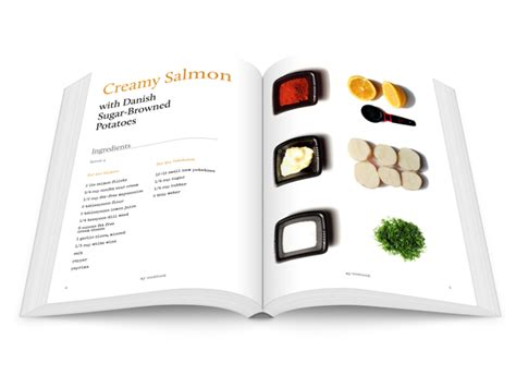 recipe book layout design design striking layouts for your own cookery book using