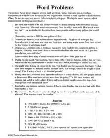 5th grade math worksheets word problems search results