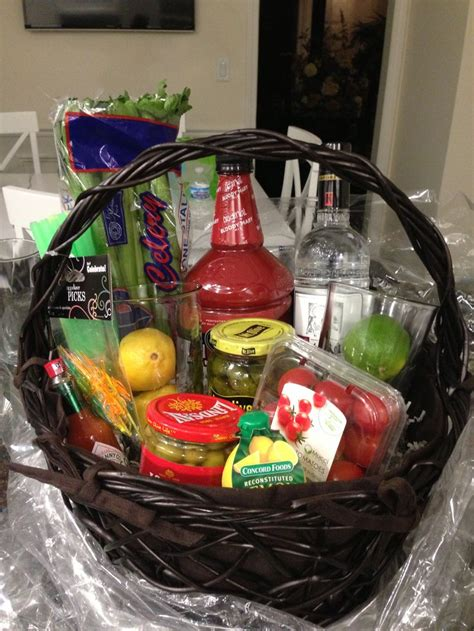 bloody mary basket     friends st birthday gift ideas diy gift baskets gift
