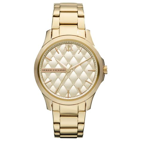 armani exchange ax armani exchange womens gold ion