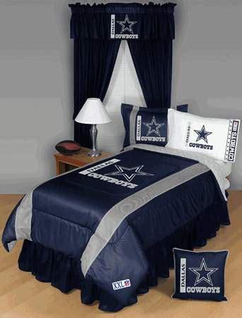 dallas cowboys side lines comforter sheet set