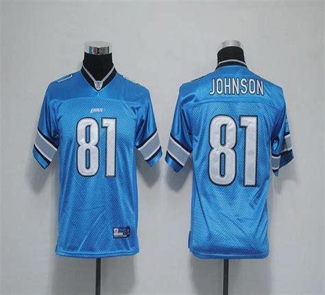 youth blue calvin johnson 81 jersey valuable p 175 youth jerseys lions 81 calvin johnson blue estitched