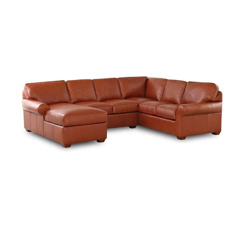 discount leather sectional comfort design clp4004 sect journey leather sectional