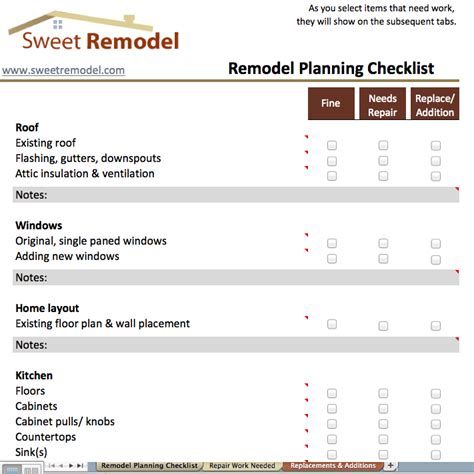 remodel planning checklist checklist to go through when planning a remodel to make sure you