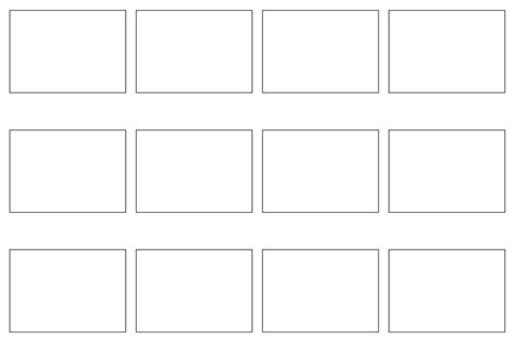 clipart storyboard 12 panels