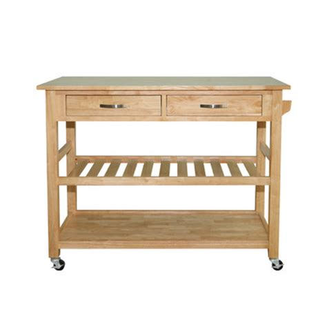 Solid Wood Kitchen Island Cart Buy Solid Wood Top Kitchen Island Cart Finish