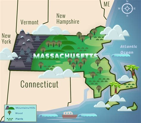 massachusetts physical map capital of machusetts map marked usa map images