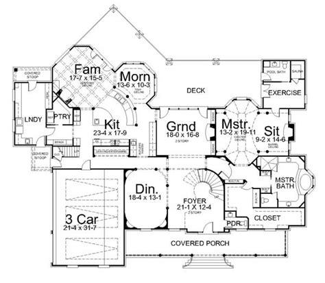 estate home plans anderson estate 7446 4 bedrooms and 5 baths the house