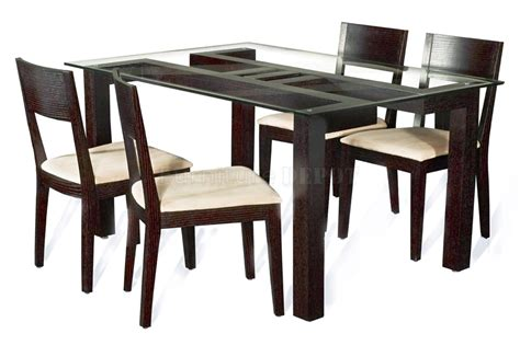 contemporary dining table designs in wood and glass