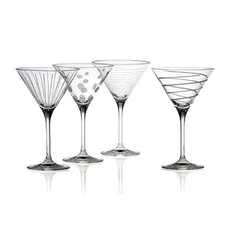 martinis cheers mikasa quot cheers quot martini glasses set of 4 6912346 hsn