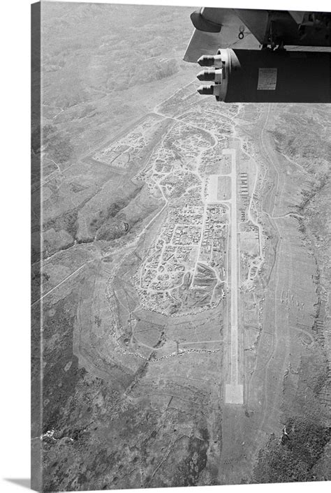 Aerial View Of Khe Sanh US Marine Base, Vietnam, 1968 Wall
