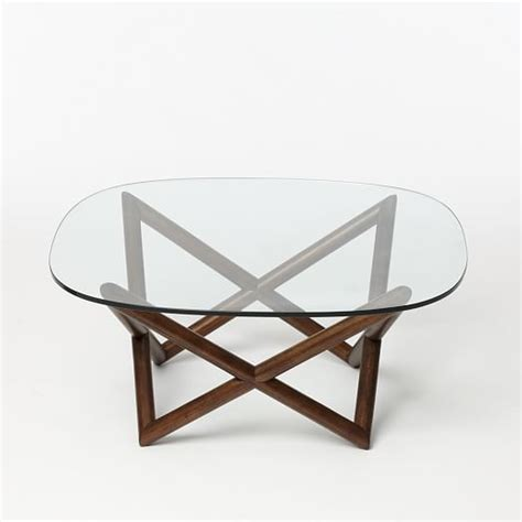 Spindle Coffee Table West Elm West Elm Glass Coffee Table