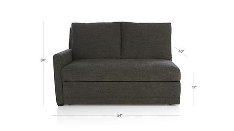 reston sleeper sofa review reston left arm loveseat trundle sleeper sofa in reston