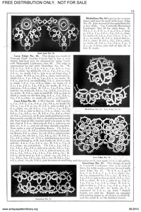 antique pattern library tatting apl 6 ta007 corticelli lessons in tatting page 17