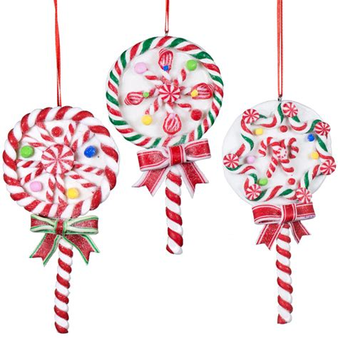5 quot christmas lollipop ornaments set of 3 3716433