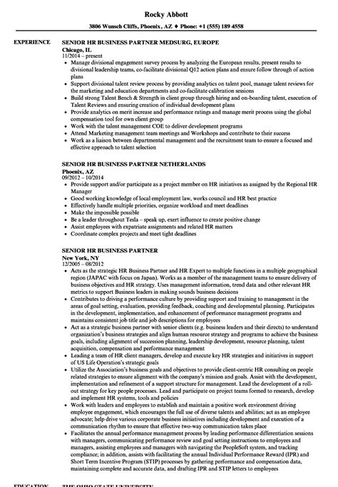 pretty resume of hr business partner images exle