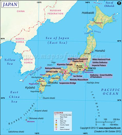 map of japan major cities japan map shows the province boundary airports major