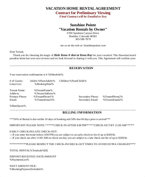 House Rental Agreement 10 Word Pdf Documents Download Free Premium Templates Condo Rental Agreement Template