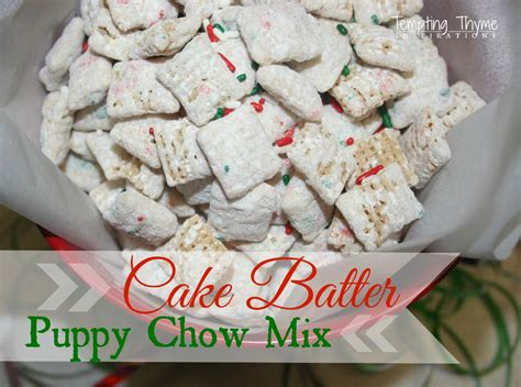 puppy chow chex cake batter puppy chow mix birthday cake chex mix tempting thyme