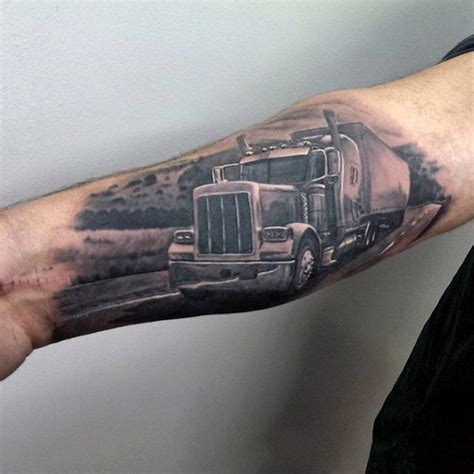 60 truck tattoos for vintage and big rig ink design