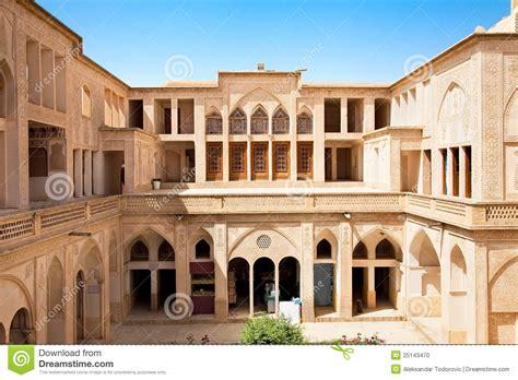 Rectangle House abbasian historic house kashan iran stock photo image