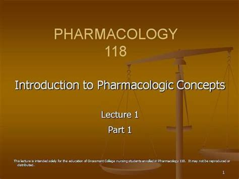 N118 Lecture 1 Pharmacology And The Nur Authorstream Pharmacology Ppt Presentation