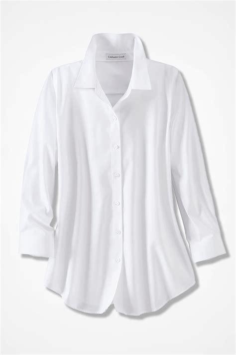 quarter sleeve  iron shirt coldwater creek