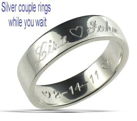 Wedding Ring Engraving Near Me by Silver Engraving Near Me