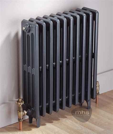 Grey And Black Bathroom Ideas by Clasico 4 Column 420mm Height Cast Iron Radiator By Mhs