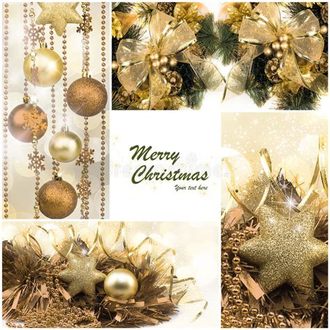 christmas set winter holiday gifts festive golden