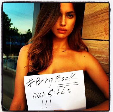 Irina Shayk Cara Delevingne Bring Back Our Girls Campaign