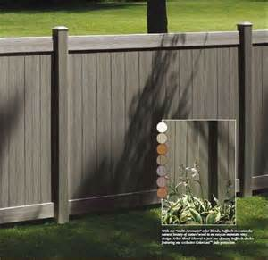 vinyl fence colors colonial white chesterfield certagrain vinyl fence