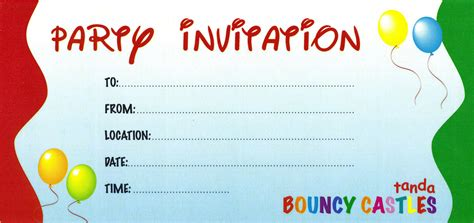 birthday invitation card template invitation card invitation templates