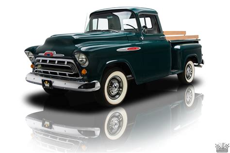 chevy truck car a painstakingly restored chevrolet 3100 is on display at
