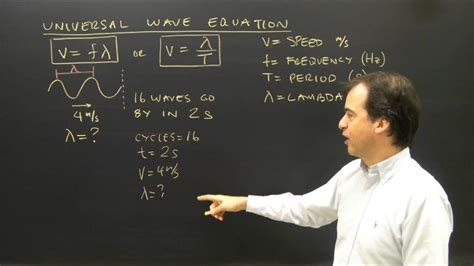 what is lambda in physics universal wave equation v f lambda calculations youtube