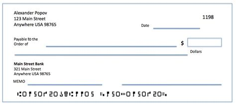 template of a check how to write a check exle