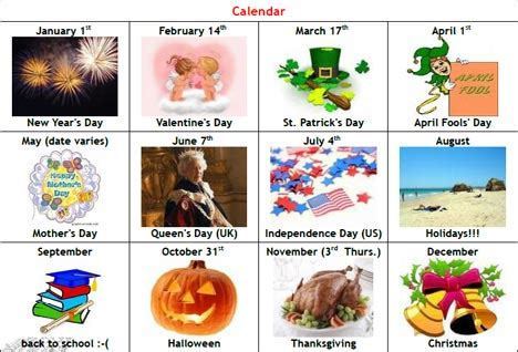 holidays and celebrations celebrations vocabulary and pronunciation pinterest