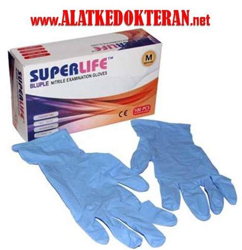 Sarung Tangan Bidan sarung tangan nitrile glove blueple untuk dokter rumah sakit perawat bidan operasi jual
