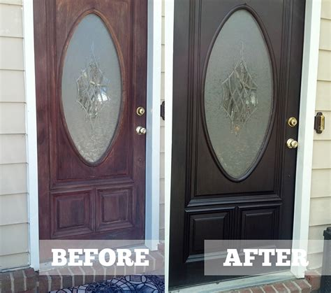 How To Stain A Door by Diane S Java Gel Stained Entryway Door Merrypad