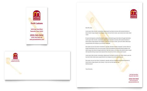 builders letterhead template home builder contractor business card letterhead template design