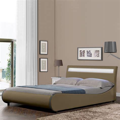 futon polsterbett corium 174 design led polsterbett 140 180 x 200cm kunst leder